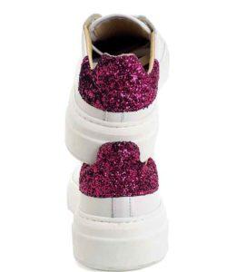 9610 nappa bianco glitter viola  – ChiariniBologna